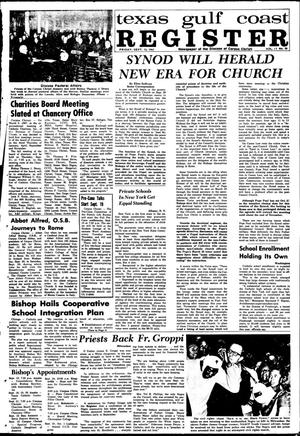 Primary view of object titled 'Texas Gulf Coast Register (Corpus Christi, Tex.), Vol. 2, No. 20, Ed. 1 Friday, September 15, 1967'.