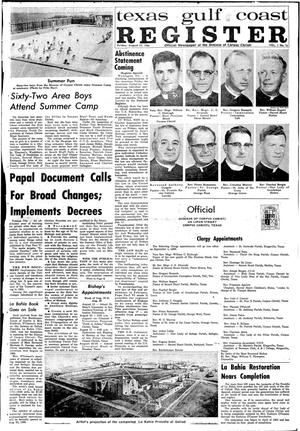 Primary view of object titled 'Texas Gulf Coast Register (Corpus Christi, Tex.), Vol. 1, No. 16, Ed. 1 Friday, August 19, 1966'.