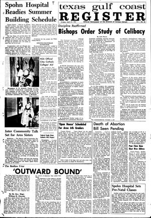 Primary view of object titled 'Texas Gulf Coast Register (Corpus Christi, Tex.), Vol. 1, No. 50, Ed. 1 Friday, April 21, 1967'.