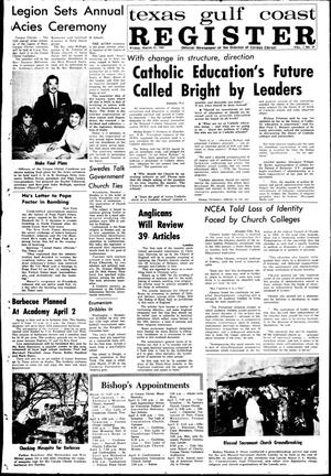 Primary view of object titled 'Texas Gulf Coast Register (Corpus Christi, Tex.), Vol. 1, No. 47, Ed. 1 Friday, March 31, 1967'.