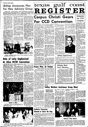 Primary view of object titled 'Texas Gulf Coast Register (Corpus Christi, Tex.), Vol. 1, No. 26, Ed. 1 Friday, October 28, 1966'.