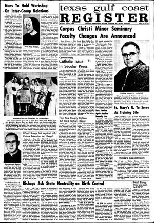 Primary view of object titled 'Texas Gulf Coast Register (Corpus Christi, Tex.), Vol. 1, No. 10, Ed. 1 Friday, July 8, 1966'.