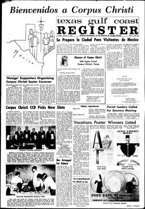 Primary view of object titled 'Texas Gulf Coast Register (Corpus Christi, Tex.), Vol. 1, No. 45, Ed. 1 Friday, March 17, 1967'.