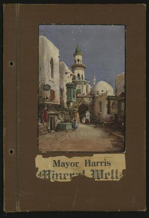 Primary view of object titled '[Scrapbook: Mineral Wells, Mayor Harris]'.