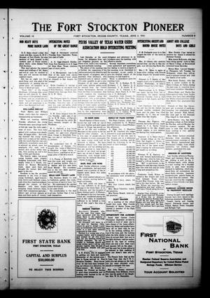 Primary view of object titled 'The Fort Stockton Pioneer (Fort Stockton, Tex.), Vol. 9, No. 9, Ed. 1 Friday, June 2, 1916'.