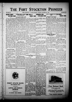 Primary view of object titled 'The Fort Stockton Pioneer (Fort Stockton, Tex.), Vol. 9, No. 29, Ed. 1 Friday, October 20, 1916'.