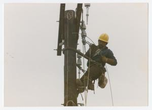 Primary view of object titled '[Lineman for the City of Denton]'.