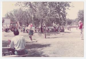 Primary view of object titled '[City of Denton employees and their families at park]'.