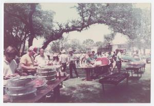 Primary view of object titled '[City of Denton employees at annual appreciation day cookout]'.