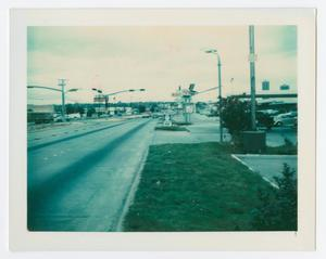 Primary view of object titled '[View of the Exxon station on University Drive]'.