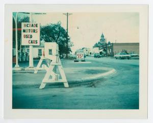 Primary view of object titled '[Gulf service station in Downtown Denton]'.
