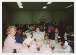 Primary view of object titled '[Women at the City of Denton Service Awards Banquet]'.