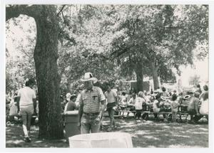 [City of Denton employees and families at event in park]