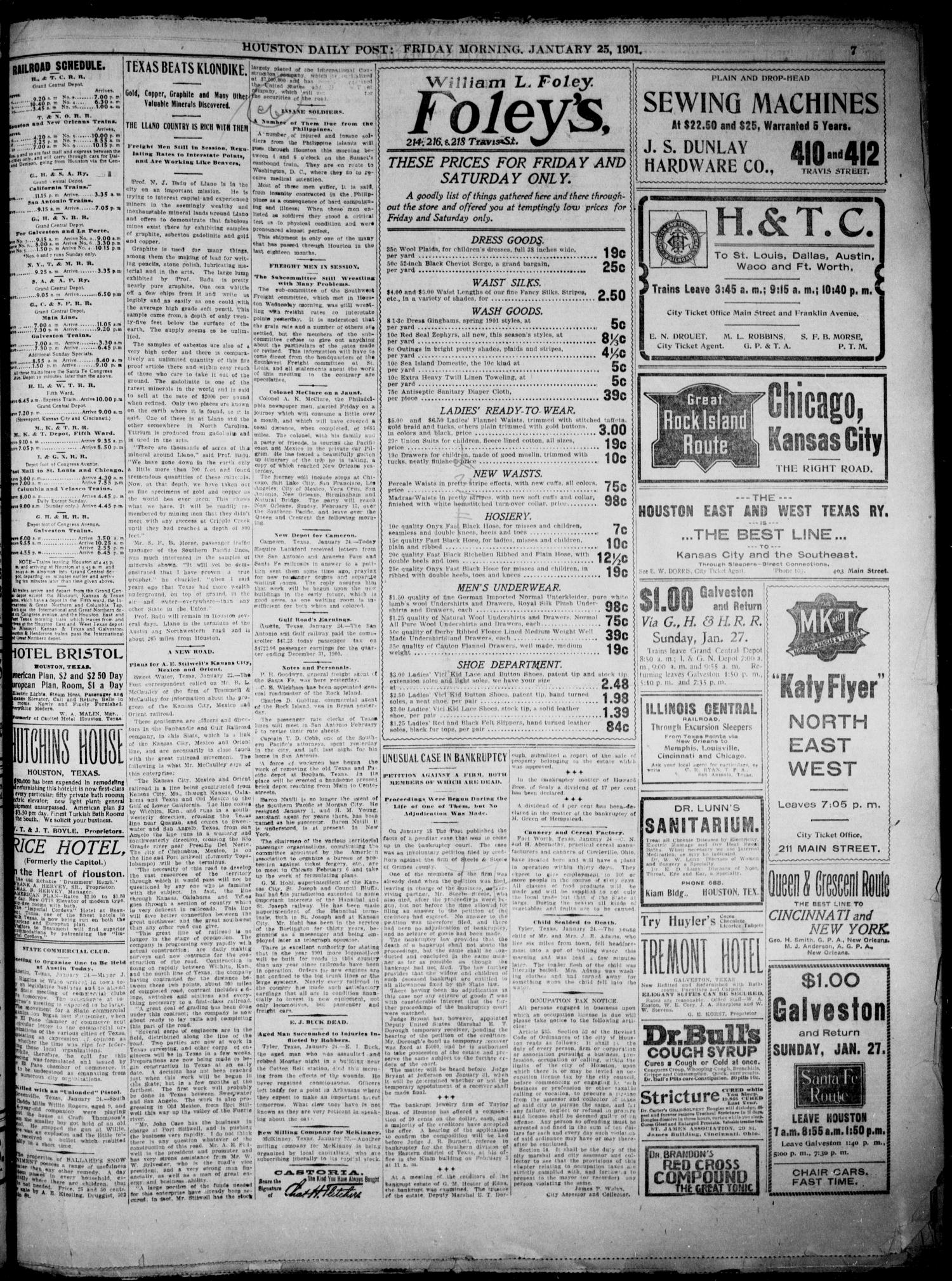 The Houston Daily Post (Houston, Tex.), Vol. XVIth YEAR, No. 296, Ed. 1, Friday, January 25, 1901                                                                                                      [Sequence #]: 7 of 10