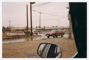 Primary view of object titled '[View from truck of intersection at W. University Drive and Malone St.]'.