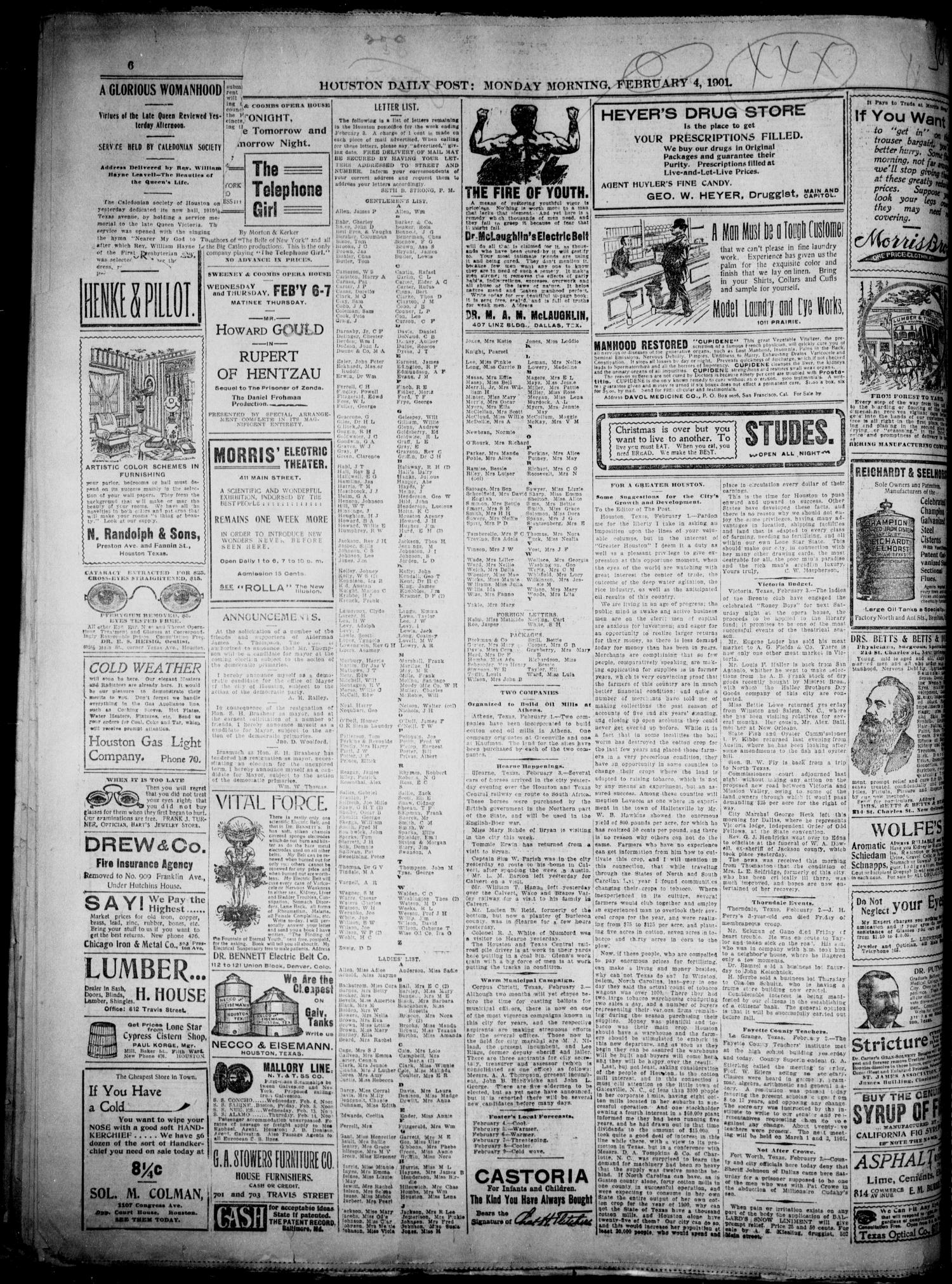 The Houston Daily Post (Houston, Tex ), Vol  XVIth YEAR, No
