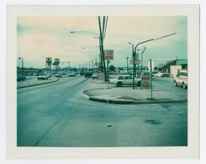 Primary view of object titled '[View of Lucky Lady service station on W. University Drive]'.