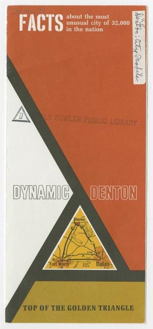Primary view of object titled 'Dynamic Denton: Top of the Golden Triangle'.