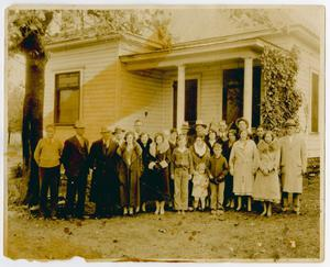 [Photograph of Grace Lorraine Conner's Family Outside House]