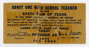 [State Fair of Texas Admission Ticket]
