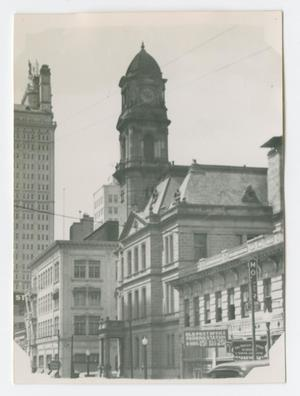 [Photograph of Clock Tower in Dallas]