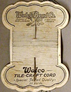 "Primary view of object titled '[Silver needle attached to ""Walco Bead Co."" card]'."