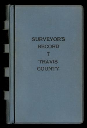 Primary view of object titled 'Travis County Survey Records: Surveyor's Record 7'.