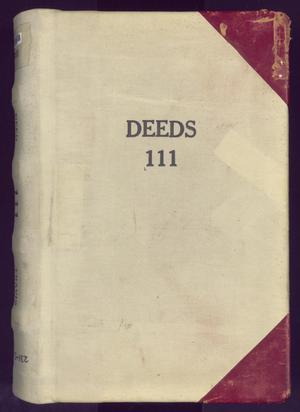 Primary view of object titled 'Travis County Deed Records: Deed Record 111'.