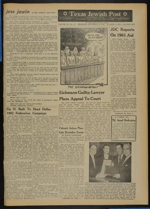 Primary view of object titled 'Texas Jewish Post (Fort Worth, Tex.), Vol. 15, No. 50, Ed. 1 Thursday, December 14, 1961'.