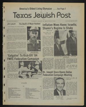 Primary view of object titled 'Texas Jewish Post (Fort Worth, Tex.), Vol. 38, No. 4, Ed. 1 Thursday, January 26, 1984'.