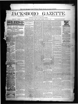 Primary view of object titled 'Jacksboro Gazette. (Jacksboro, Tex.), Vol. 8, No. 9, Ed. 1 Thursday, September 1, 1887'.
