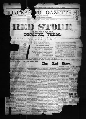 Primary view of object titled 'Jacksboro Gazette. (Jacksboro, Tex.), Vol. 9, No. 20, Ed. 1 Thursday, November 15, 1888'.