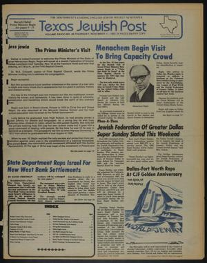 Primary view of object titled 'Texas Jewish Post (Fort Worth, Tex.), Vol. 36, No. 45, Ed. 1 Thursday, November 11, 1982'.