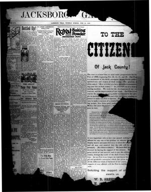 Primary view of object titled 'Jacksboro Gazette. (Jacksboro, Tex.), Vol. 17, No. [3], Ed. 1 Thursday, June 18, 1896'.
