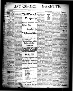 Primary view of object titled 'Jacksboro Gazette. (Jacksboro, Tex.), Vol. 18, No. 30, Ed. 1 Thursday, December 23, 1897'.