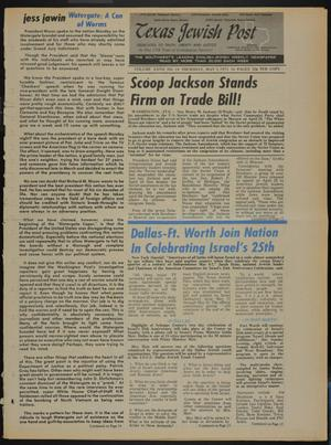 Primary view of object titled 'Texas Jewish Post (Fort Worth, Tex.), Vol. 27, No. 18, Ed. 1 Thursday, May 3, 1973'.