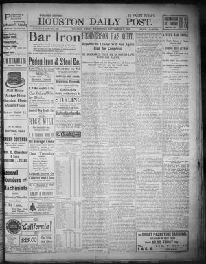 Primary view of object titled 'The Houston Daily Post (Houston, Tex.), Vol. XVIIIth Year, No. 166, Ed. 1, Wednesday, September 17, 1902'.