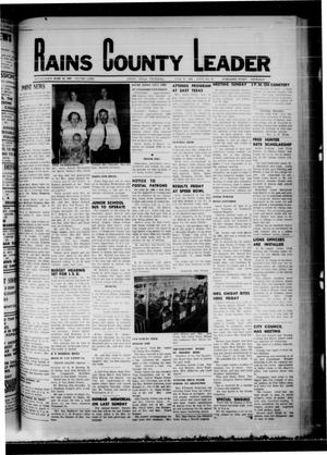 Primary view of object titled 'Rains County Leader (Emory, Tex.), Vol. 81, No. 1, Ed. 1 Thursday, June 27, 1968'.