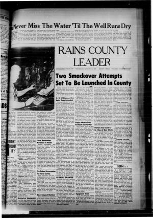 Primary view of object titled 'Rains County Leader (Emory, Tex.), Vol. 78, No. 7, Ed. 1 Thursday, August 12, 1965'.