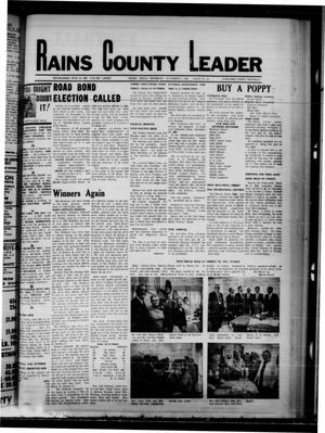Primary view of object titled 'Rains County Leader (Emory, Tex.), Vol. 82, No. 23, Ed. 1 Thursday, November 6, 1969'.