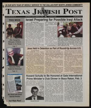 Primary view of object titled 'Texas Jewish Post (Fort Worth, Tex.), Vol. 56, No. 52, Ed. 1 Thursday, December 26, 2002'.