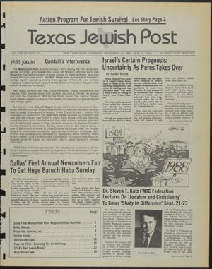 Primary view of object titled 'Texas Jewish Post (Fort Worth, Tex.), Vol. 39, No. 37, Ed. 1 Thursday, September 13, 1984'.