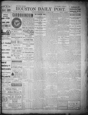 Primary view of object titled 'The Houston Daily Post (Houston, Tex.), Vol. XVIIIth Year, No. 182, Ed. 1, Friday, October 3, 1902'.