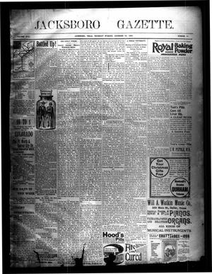 Primary view of object titled 'Jacksboro Gazette. (Jacksboro, Tex.), Vol. 17, No. 30, Ed. 1 Thursday, December 24, 1896'.
