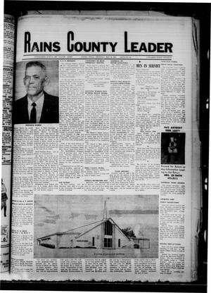Primary view of object titled 'Rains County Leader (Emory, Tex.), Vol. 81, No. 48, Ed. 1 Thursday, May 29, 1969'.