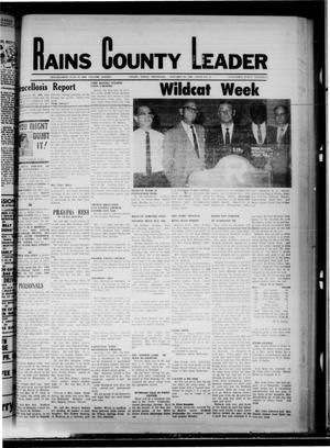 Primary view of object titled 'Rains County Leader (Emory, Tex.), Vol. 82, No. 21, Ed. 1 Thursday, October 23, 1969'.