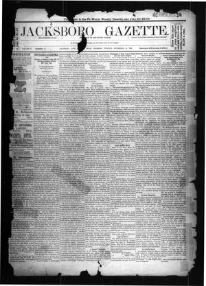 Primary view of object titled 'Jacksboro Gazette. (Jacksboro, Tex.), Vol. 9, No. 11, Ed. 1 Thursday, September 13, 1888'.