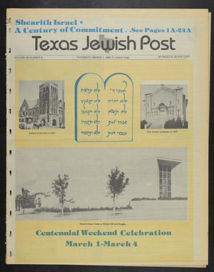 Primary view of object titled 'Texas Jewish Post (Fort Worth, Tex.), Vol. 38, No. 9, Ed. 1 Thursday, March 1, 1984'.