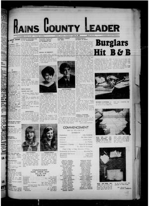 Primary view of object titled 'Rains County Leader (Emory, Tex.), Vol. 82, No. 51, Ed. 1 Thursday, May 28, 1970'.