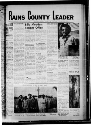 Primary view of object titled 'Rains County Leader (Emory, Tex.), Vol. 81, No. 16, Ed. 1 Thursday, October 10, 1968'.